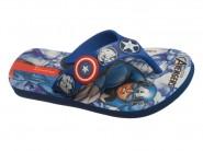 Chinelo Grendene Dedo Avengers Azul Capitão America 25956