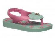 Chinelo Grendene Dedo Barbie Verde Rosa 25928
