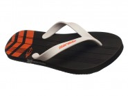 Chinelo Grendene Dedo Mormaii Tropical Preto Branco Laranja TROPICAL 10591