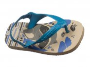 Chinelo Havaianas Dedo Bege Palha NEW BABY PETS 4.137