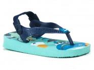 Chinelo Havaianas Dedo Azul BABY PETS 4.000.418
