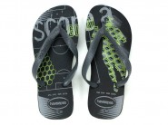 Chinelo Havaianas Dedo Preto Cinza ATHLETIC 4.127.273