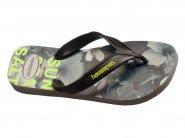 Chinelo Havaianas Dedo Cinza Preto SURF 4.000.047