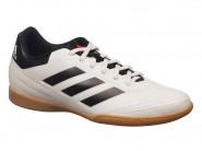 Chuteira Adidas Indoor / Futsal Tenis Goletto Branco Preto GOLETTO VI IN AQ4292
