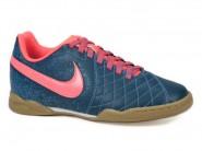 Chuteira Nike Indoor / Futsal Azul Petroleo Laranja FLARE 2 IC 651983