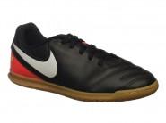 Chuteira Nike Indoor / Futsal Preto Laranja TIEMPOX RIO 3 819196