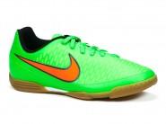 Chuteira Nike Indoor / Futsal Verde Limão-Laranja JR MAJISTA 651650