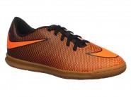 Chuteira Nike Indoor / Futsal Tênis Bravata Laranja Preto BRAVATAX II 844438