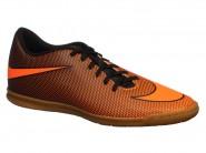 Chuteira Nike Indoor / Futsal Tenis Bravata Laranja Preto BRAVATAX II 844441