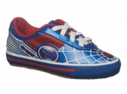 Chuteira Tronic Indoor / Futsal Azul Branco Vermelho KID ARANHA II