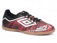 Chuteira Umbro Indoor / Futsal Vermelho Preto Branco GRASS II 0F82037