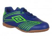 Chuteira Umbro Indoor / Futsal Azul Verde KICKER III 0F82031