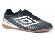 Chuteira Umbro Indoor / Futsal Preto-Branco-Chumbo SPEED II 0F72049