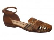 Sandalia Bottero Rasteira Huarache Caramelo Dourado 261301