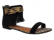 Sandalia Dakota Rasteira Preto Z1192