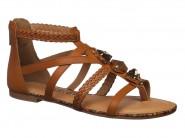 Sandalia Dakota Rasteira Gladiadora Caramelo Z1584