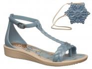 Sandalia Grendene Bege Azul FROZEN 21508