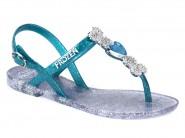 Sandalia Grendene Frozen Prata Azul 21443