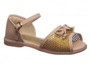 Sandalia Kidy Nude Ouro 156-0136