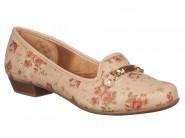 Sapato Azaleia Floral Pele 512/478