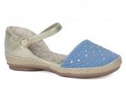 Sandalia Kidy Spadrille Ouro Jeans 027.0259