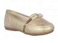 Sapato Kidy Mocassim Marfim Dourado 027.0287