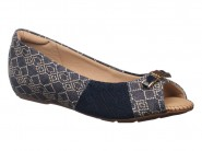 Sapato Modare Peep Toe Azul Escuro Azul 7038.112