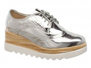 Sapato Moleca Oxford Prata 5624.102