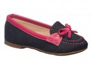 Sapato Molekinha Mocassim Jeans Escuro Pink 2106.142