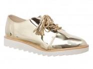 Sapato Molekinha Oxford Dourado 2510.101