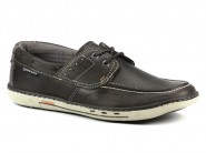 Sapato Pegada Dockside Marrom Cinza 15506.04