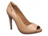 Sapato Ramarim Peep Toe Amendoa 1647202