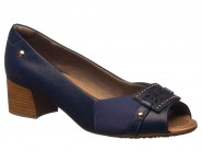 Sapato Usaflex Peep Toe New Blue T3406/02