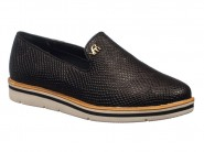 Sapato Via Marte Slipper Loafer Preto 17-4601