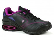 Tenis Bee Happy Running Preto Magenta NEW WAVE 5366