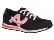 Tenis Botinho Running Preto Pink 677BA