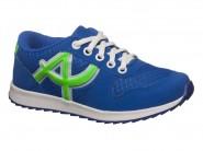 Tenis Botinho Running Azul Verde 677DA