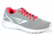 Tenis Bouts Running Cinza Coral Fluor CONFORT 7245