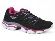Tenis Bouts Running Preto Pink ZEST 9213