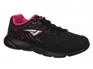 Tenis Bouts Running Preto Pink SENSE TEEN 6527