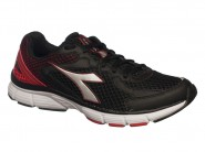 Tenis Diadora Running Preto Vermelho FIRE 125508