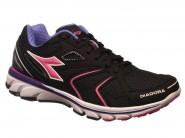 Tenis Diadora Running Preto Pink Roxo WIN W 125503