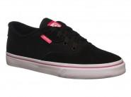 Tenis Freeday Skate Preto Branco Pink HOME PLUS GIRL 32355