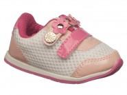 Tenis Meli Baby Branco Rosa 705