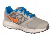Tenis Nike Running Cinza Laranja Azul DOWNSHIFTER 6 684979