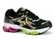 Tenis Replay Running Preto Pink Verde 7250