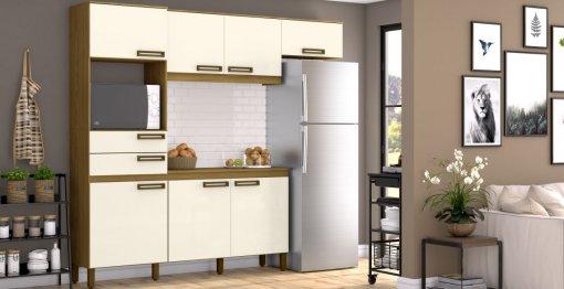 Cozinha B107 C/Balcão - Briz Móveis