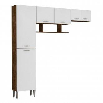 Armario Compacto Para Cozinha Cris Com 6 Portas e 1 Gaveta