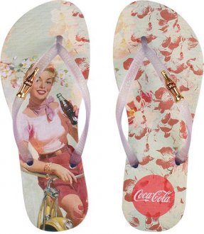Chinelo Coca Cola Flower Girl
