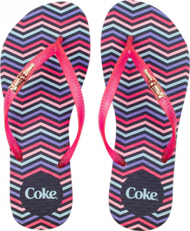 Imagem - Coca Cola Chinelo Colorful Chevron